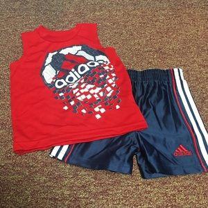 Adidas Shorts & Tank Two Piece Set